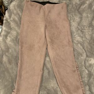 Zara Suede Blush Pants